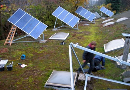 Anbringung von Solarzellen