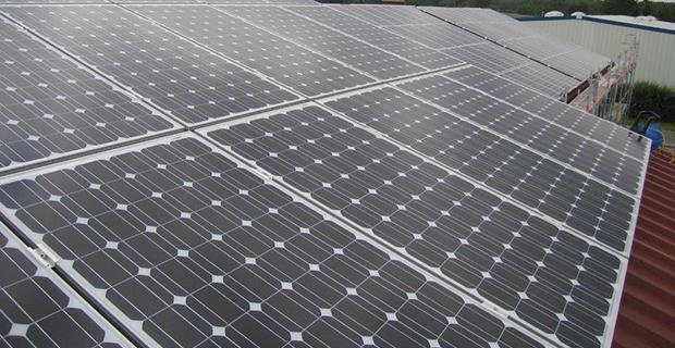 Ein Solarzellendach