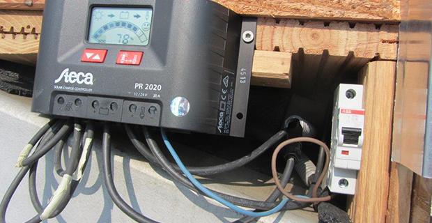 Ein Gerät, dass die Solarenergie misst