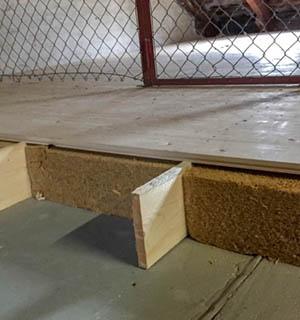 Dämmung eines Dachbodens