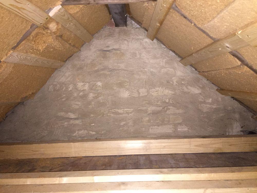 Ein Dachstuhl von innen